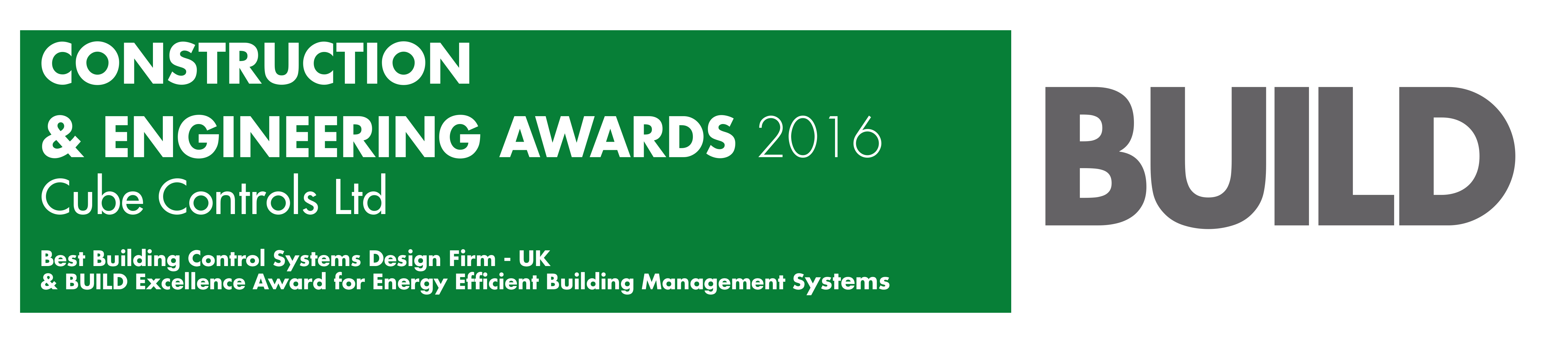 Cube Controls Ltd-Build - Construction & Engineering Awards 2016