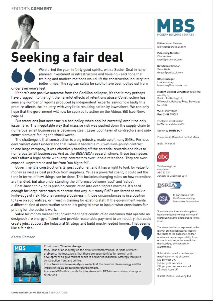 Seeking a fair deal